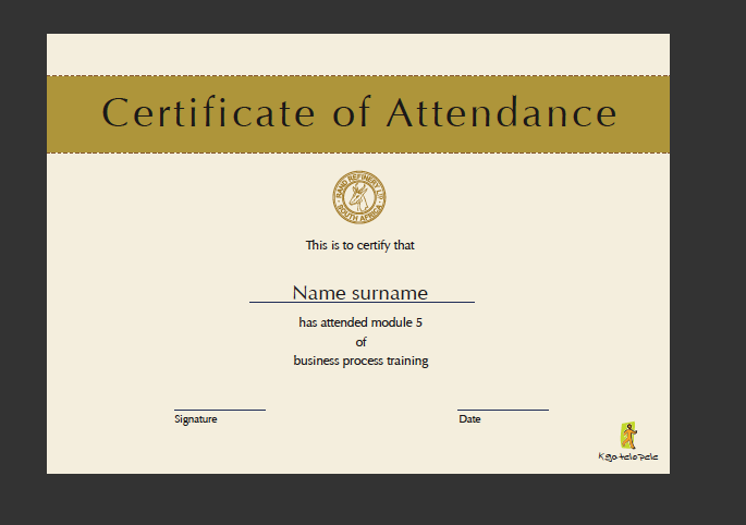 free printable achievement certificate template .