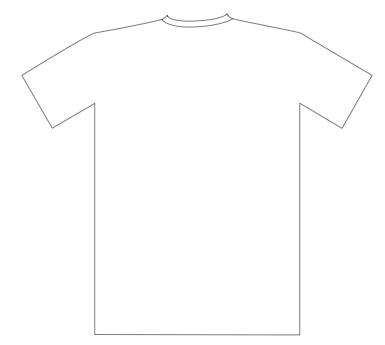 shirt outline front and back. cupcake wrappers template: