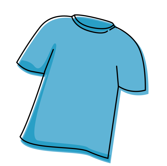 ... in the format of a t-shirt. Use the t-shirt outline to do the design
