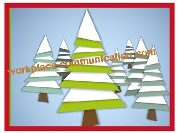winter bulletin board idea with Christmas tree effect